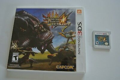 Monster Hunter 4 Ultimate (Nintendo 3DS, 2015) Great Cond Everything Included!