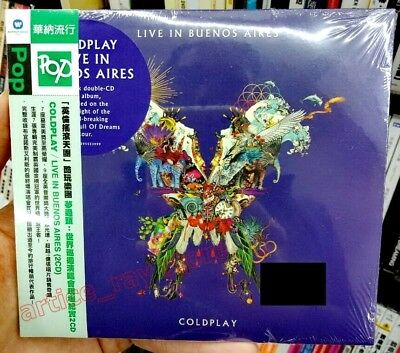Coldplay Live In Buenos Aires Taiwan 2 CD OBI Digipak 2018 NEW