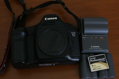 Canon EOS 5D Mark I Classic DSLR Digital Camera Body +Extras Excellent Condition
