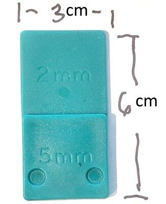5mm x 2mm PLASTIC PACKERS SHIMS POLYPROPYLENE SPACERS