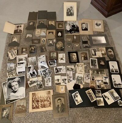 Vtg ANTIQUE PHOTOS HUGE LOT 600+ SNAPSHOTS PHOTOS Negative Every Subject B & W