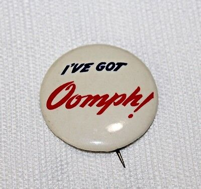 "Vintage Rice's Bread ""I'VE GOT OOMPH!"" Home Delivery Advertising Slogan Pin"