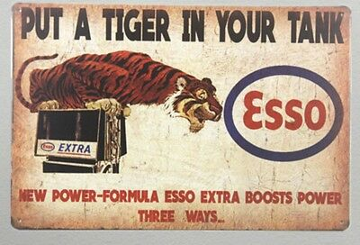 Retro Esso Gas Sign Clemson fan auburn fan