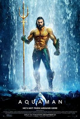 AQUAMAN Original DS 27x40 FINAL Version Movie Poster JASON MOMOA See Listing