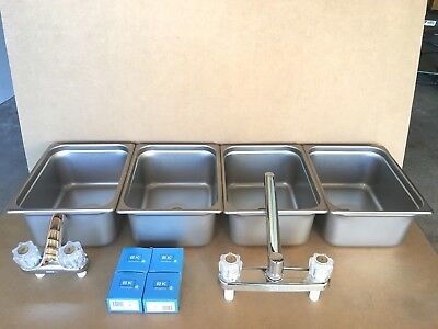 NEW Large 3 Compartment Sink & Hand Washing for Concession Stand Tent Trailer
