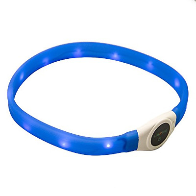 LaRoo LED Dog Collar, Flashing LED Dog Safety Collar USB Rechargeable Light Up
