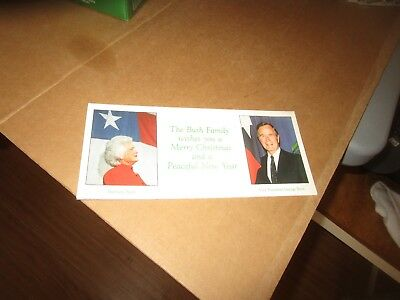 President George H.W. Bush 1986 Family Photo Christmas Card V.P. at the time