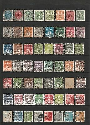 Denmark - Large Definitive Stamp Selection  2 SCANS  (1226)