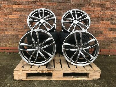 "Alloy Wheels & Tyres 19"" RS6C TTRS ROTOR CC-R For Audi TT MK2 Mk3 [8S 14> NEW TT"