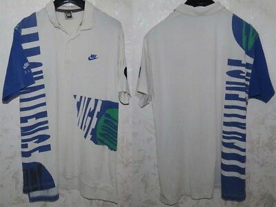 Maglia Shirt Jersey Polo Nike Fit Challenge Tennis Agassi Usa Vintage Xl/xxl Old