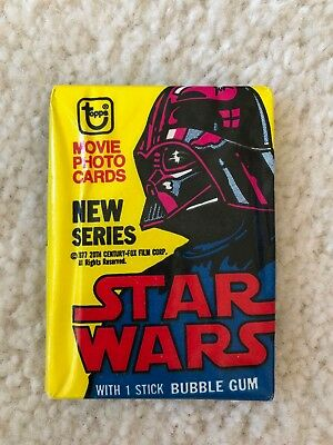 1977 Topps Star Wars Series 2 Unopened Wax Pack Excellent Cond
