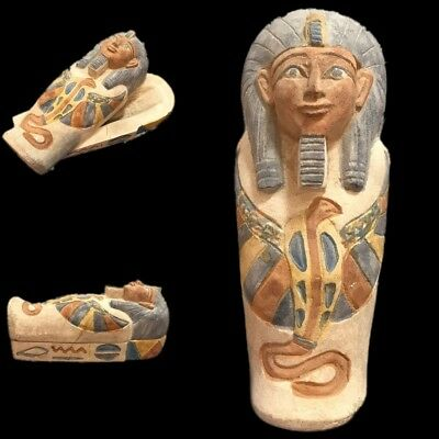 Very Rare Huge Egyptian Sarcophagus, Late Period 664 - 332 Bc (1) 20Cm 1.36Kg!!
