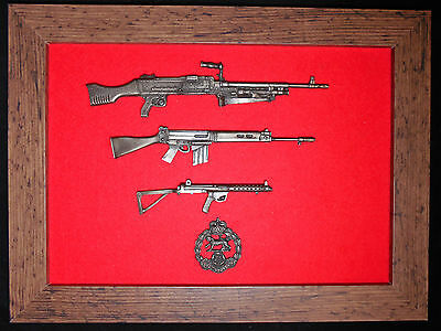 Commemorative Royal Hampshire Regiment framed 1/6 scale weapons