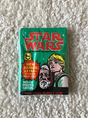 1977 Topps Star Wars Series 4 Unopened Wax Pack Excellent Cond