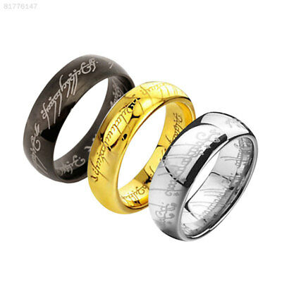 2122 Lord Of The Rings Fashion Men's Cool Titanium Steel Rings Jewelry Multicolo