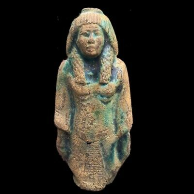 Beautiful Ancient Egyptian Bronze  Statuette 300 B.c.
