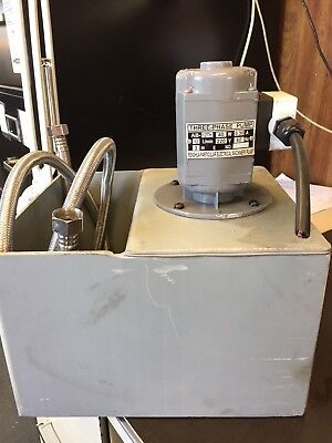 Coolant pump with PVC reservoir  220 VAC 3 phase 60 cycles