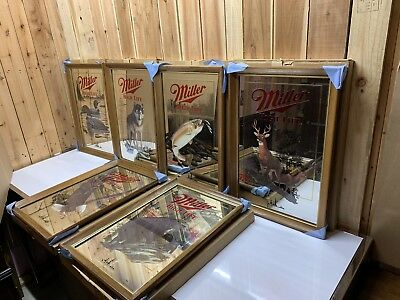 Miller High Life Mirror Wildlife Wisconsin Full Set of 6. First Print New In Box
