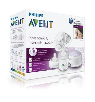 Philips AVENT Baby NATURAL COMFORT Electric Breast Pump SCF332/01 Electronic NEW