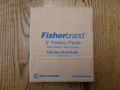"""Fisherbrand 9"""" Pasteur Pipets, Flint Glass / Non-Sterile 13-678-6B"""