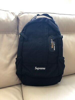Supreme Cordura Black Backpack Ss18 100 Authentic New