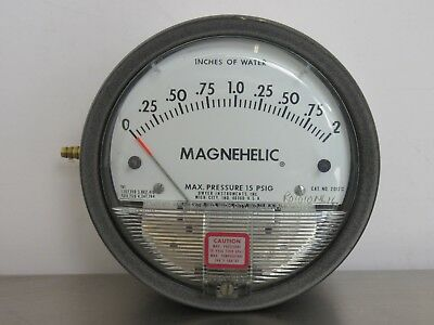 Dwyer 2002C Magnehelic Differential Pressure Gauge 15 PSIG, 0-2 LBS Per Sq In 4""
