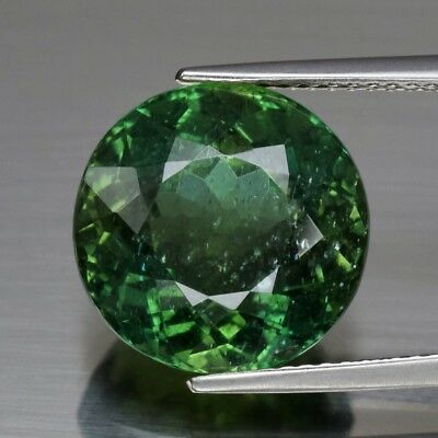 10.17ct 13mm Round Natural Unheated Green Apatite, Brazil