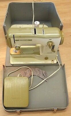 Bernina Record 530-2 sewing machine, Collectible Green, Works, Complete Vintage