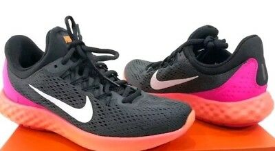 7bd931a6a2d9 Nike Womens Lunar Skyelux hot lava multicolor Running Shoes 855810-004 size  8