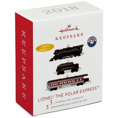 Hallmark 2018 Lionel Trains The Polar Express Miniature Ornaments, Set of 3
