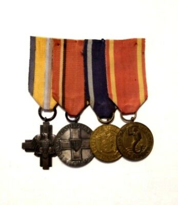 WW2 Polish set 4 medals soldier: Lenino cross; Warsaw liberation; capture Berlin