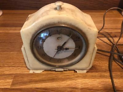 White Smiths Bakelite Sectric Electric Alarm Mantle Clock To Restore Working