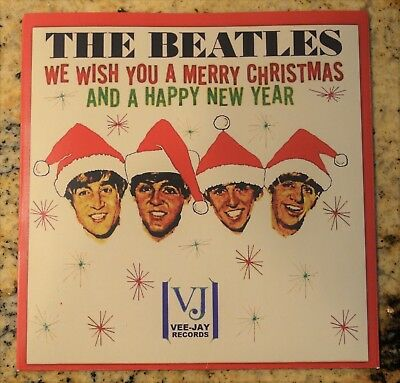 THE BEATLES  We Wish You A Merry Christmas - Custom Vee-Jay Picture Sleeve