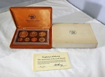 Proof Set 1975 Govnt of the Cook Islands Treasury Bartonga Franklin Mint Coins