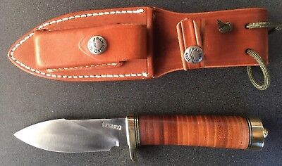 Randall Made Knife Model 11 Alaskan Skinner Brass Guard Butt And Spacers