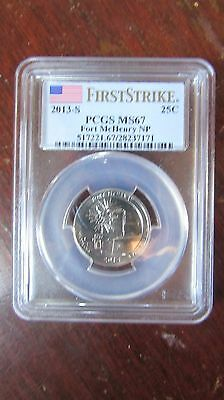 2013 S Fort Mchenry Quarter Pcgs Ms67 First Strike