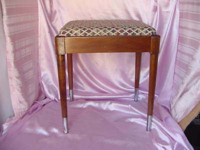 Vintage Mid Century Danish Modern Bench W/  Remotes / Sewing Storage Area Nr