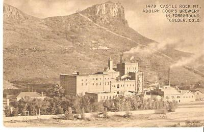 Postcard - Castle Rock Mt. Adolph Coor's Brewery, Golden Co.