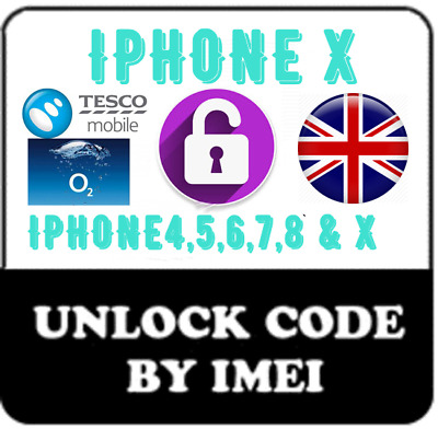 O2 Tesco UNLOCK CODE IMEI FOR IPHONE 6 6S+ 7 7+ 8 8+ & X fast unlocking service