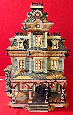 Grimsly Manor Dept 56 Snow Village Halloween 55004 haunted house mansion sound A