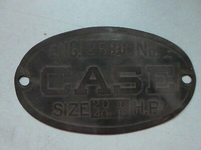 Antique Hit Miss engine Tractor Case nameplate