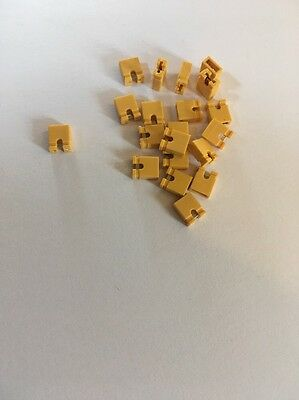 20 X Jumper Cap For Electronic Boards pcb Breadboard Short Box Switch Yellow 20