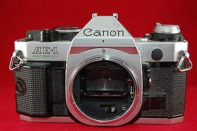 Canon AE-1 Program 35mm SLR Film Camera Silver Body Only - Works