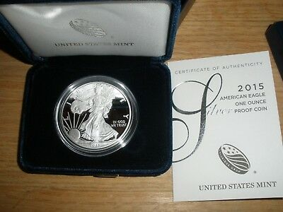 2015 Silver American Eagle - Proof - With COA and original US Mint Box
