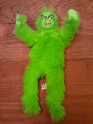 The Grinch Who Stole Christmas Jim Carey Doll Plush Teddy Warner Brothers Movie