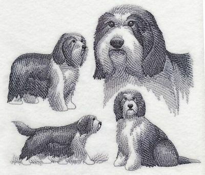 Bearded Collie Sketch Personalized Sweatshirt  Embroidered ALL SIZES