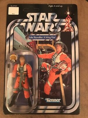 Star Wars Saga Vintage Series Luke Skywalker: X-Wing Pilot Kenner On Card