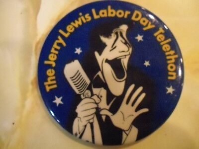 Jerry Lewis Labor Day Telethon Pin Back