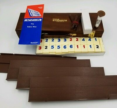 Vintage Tournament Original Rummikub Rummy Tile Game Pressman w/ Carry Case EUC