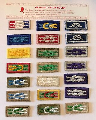 BSA Lot of 21 Different Scout Knot Award Patches Boy Scouts & Cub Scouts
